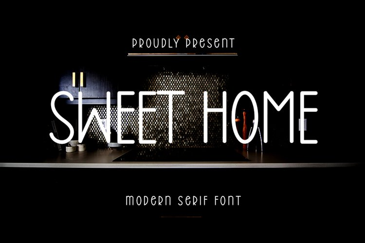 Sweet Home - Modern Serif Font example image 1
