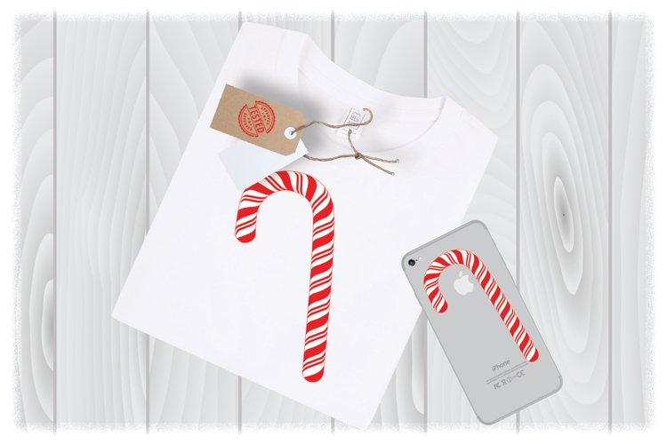 Candy Cane Svg Files for Cricut Designs | Christmas SVG File example image 1