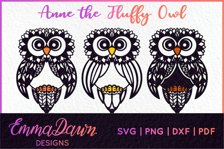 ANNE THE FLUFFY OWL SVG 3 DESIGNS example image 1