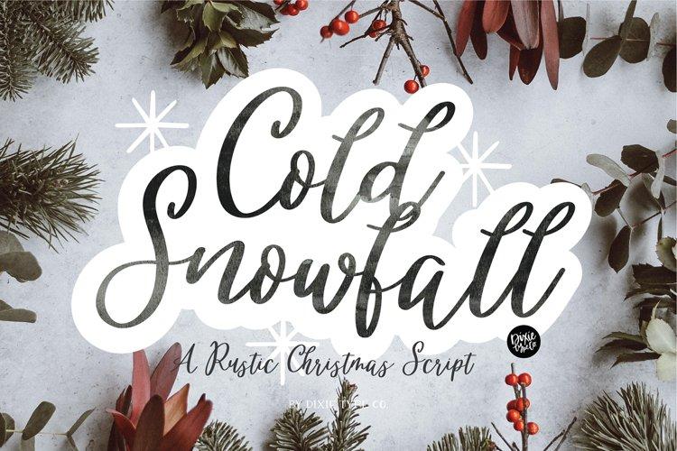 COLD SNOWFALL a Farmhouse Christmas Script