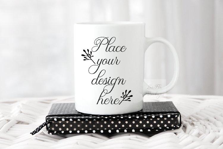 11oz Coffee mug mock up white mug mockup cup rustic mockups example image 1