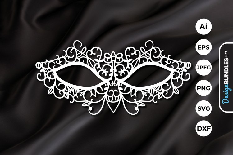Carnival Mask Papercut example image 1