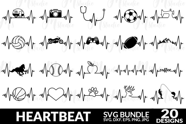 Heartbeat Svg, Heartbeat svg bundle, Best Seller.
