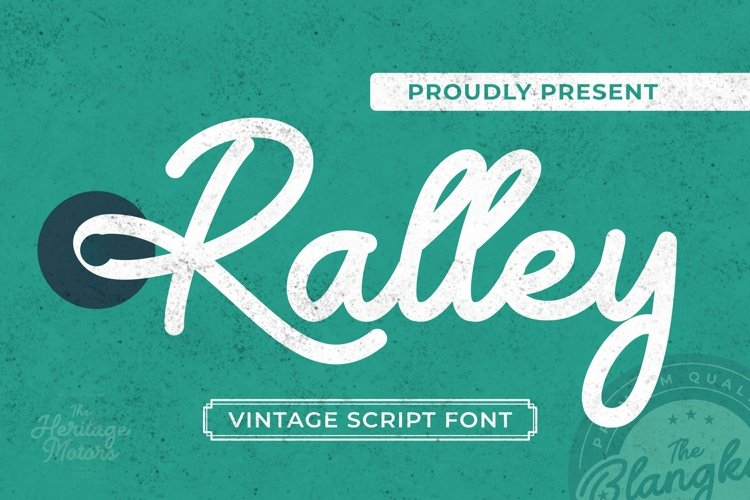 Web Font Ralley Font example image 1