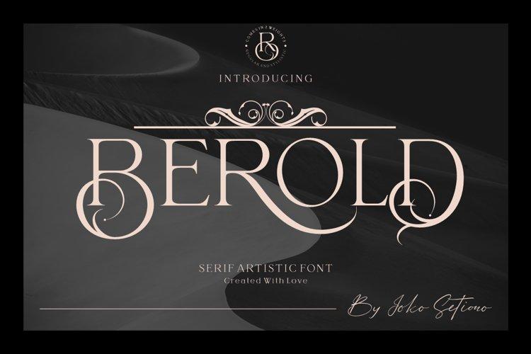 Berold - serif artistic font example image 1