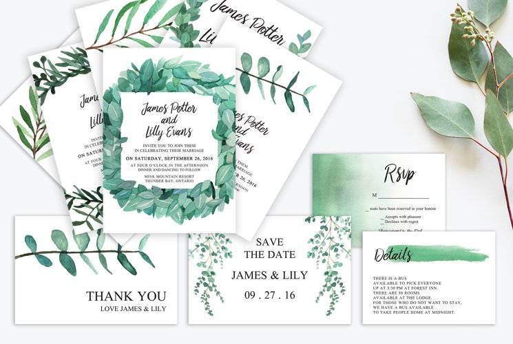 Eucalyptus Wedding Suite Vol.3
