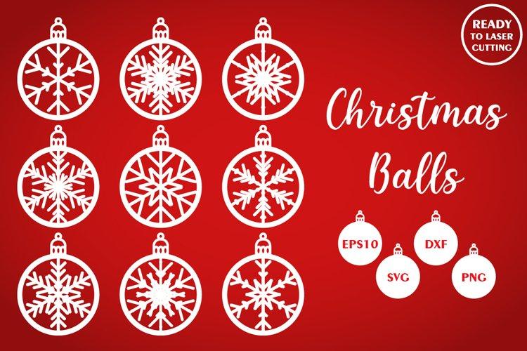 Download Bundle Of Christmas Balls Cnc Laser Cut Template Svg Dxf 683923 Laser Engraving Design Bundles