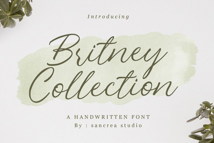 Britney Collection | Handwritten Font example image 1