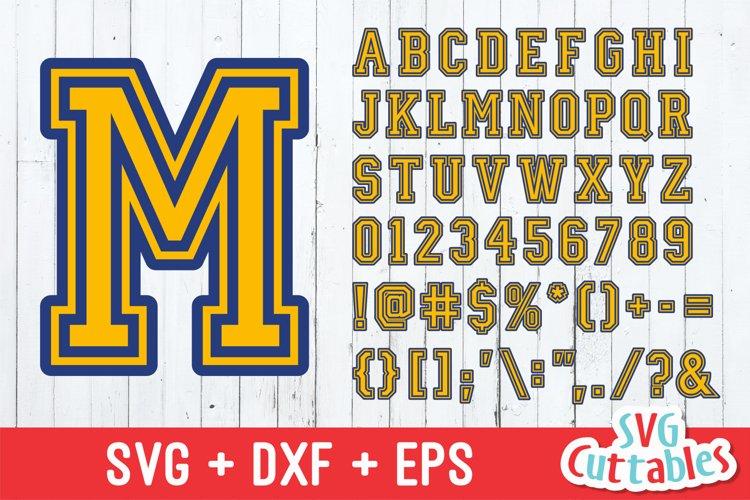 Sport Outlined SVG Alphabet