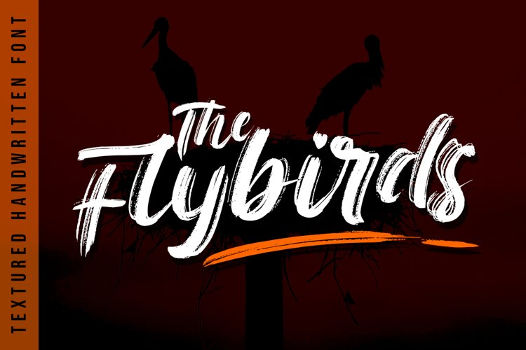 The Flybirds - Textured Brush Font example image 1