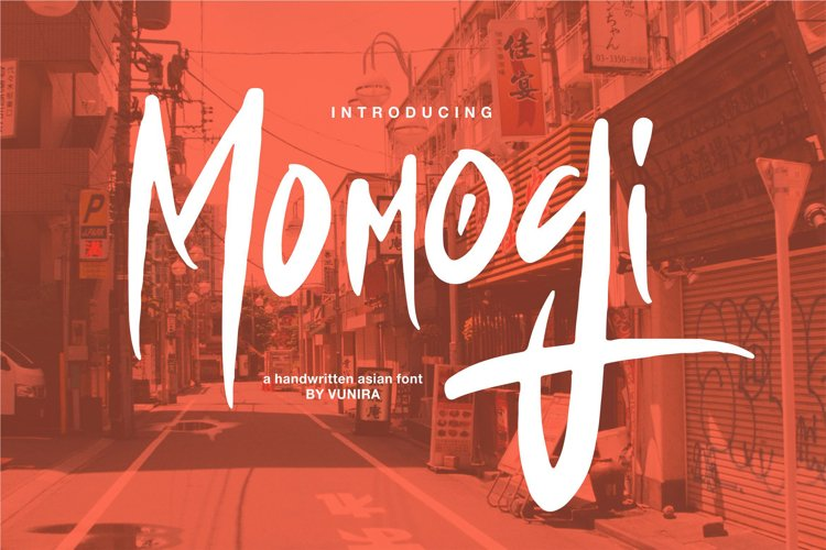 Momogi   A Handwritten Asian Font example image 1