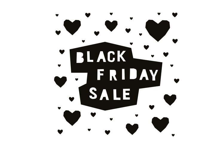 Black friday poster. Vector background. example image 1