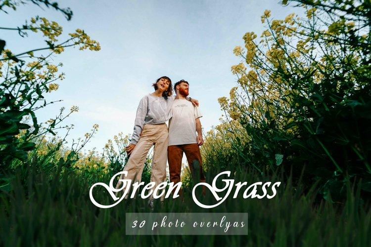 20 Green Grass Overlays, Different Overlay Digital Texture