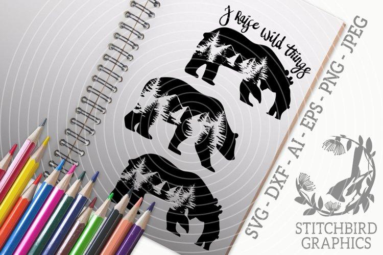 Mountain Bear Family Bundle SVG, Silhouette Studio, Cricut