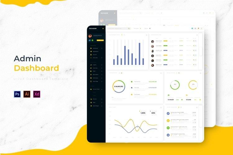 Escuador Dashboard | Admin Template example image 1