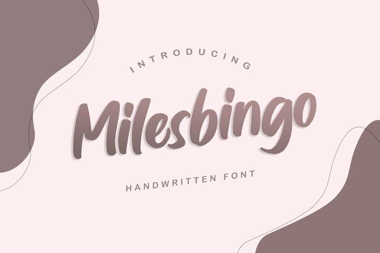 Milesbingo example image 1