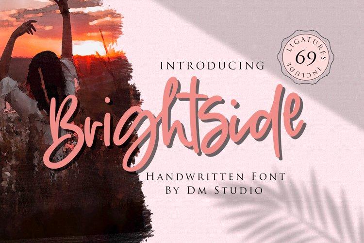 Brightside - Handwritten Brush Font example image 1