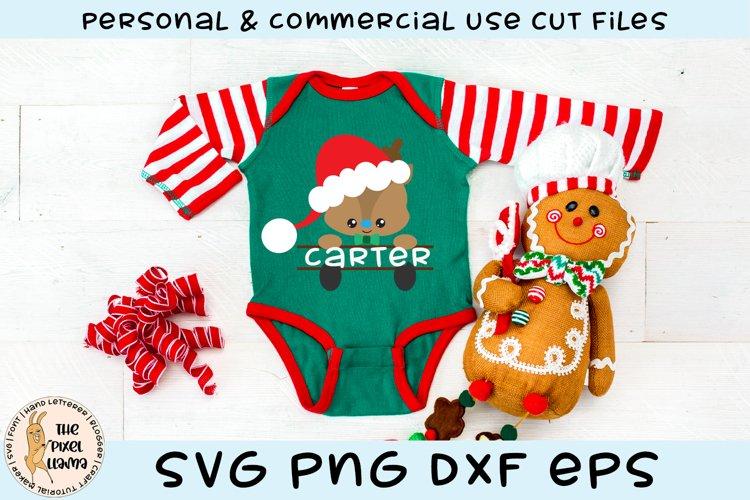 Reindeer Split Name Monogram Boy SVG Cut File example image 1