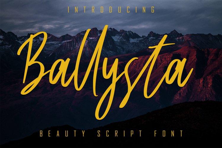 Ballysta Beauty Script Font example image 1