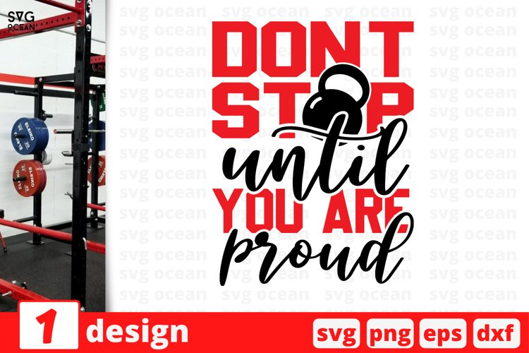 DON'T STOP SVG CUT FILE | Fitness cricut | Workout example image 1