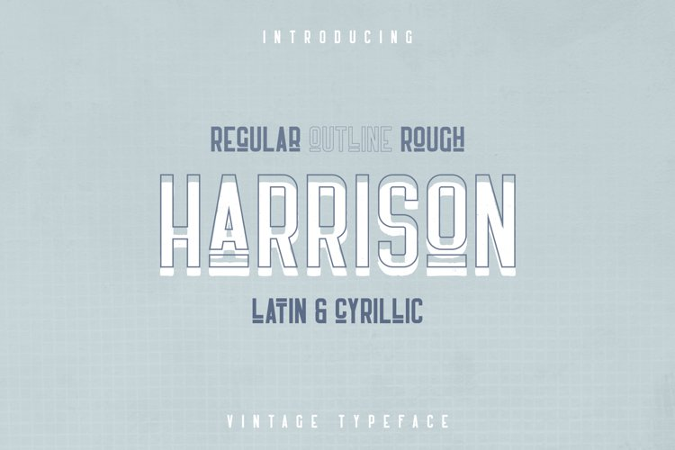 Harrison - Retro typeface example image 1
