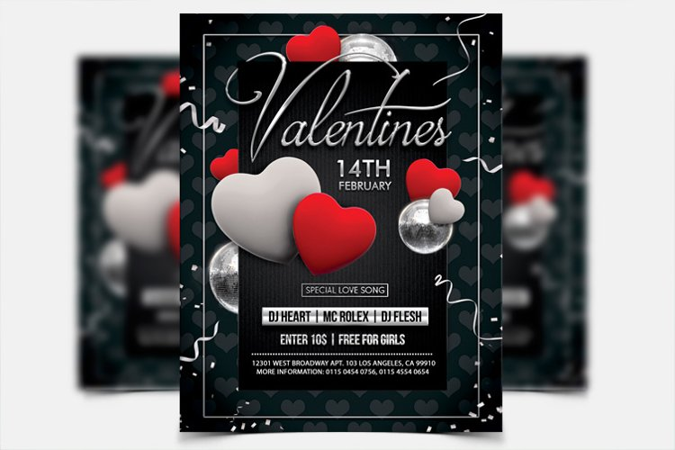 Valentines Day - PSD Flyer Template example image 1