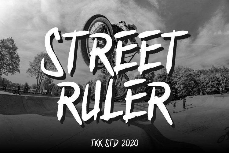 Street Ruler - Graffiti Font example image 1