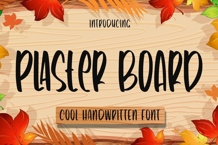 Web Font Plaster Board - Cool Handwritten Font example image 1