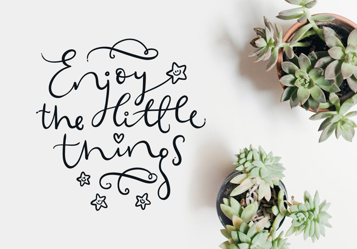 Enjoy the little things SVG cut files