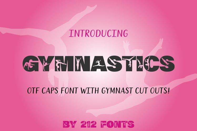 212 Gymnastics Caps Display Font Gymnast Alphabet OTF example image 1