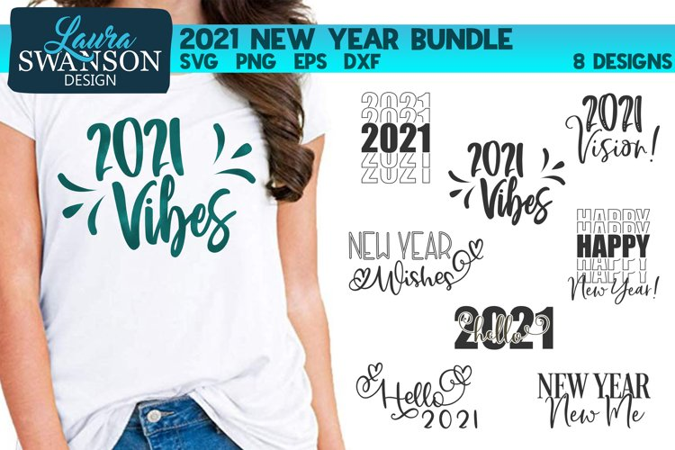 2021 New Year Bundle SVG, PNG, EPS, DXF