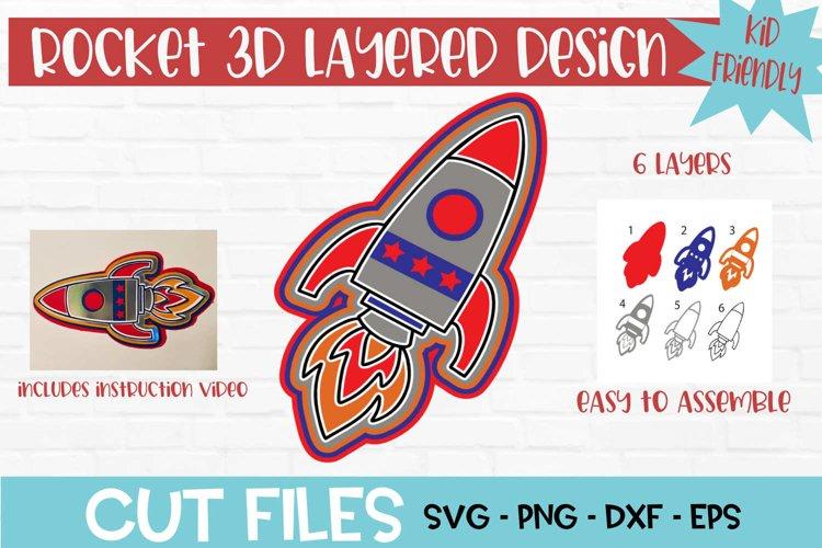 Rocket 3D Layered Design example image 1