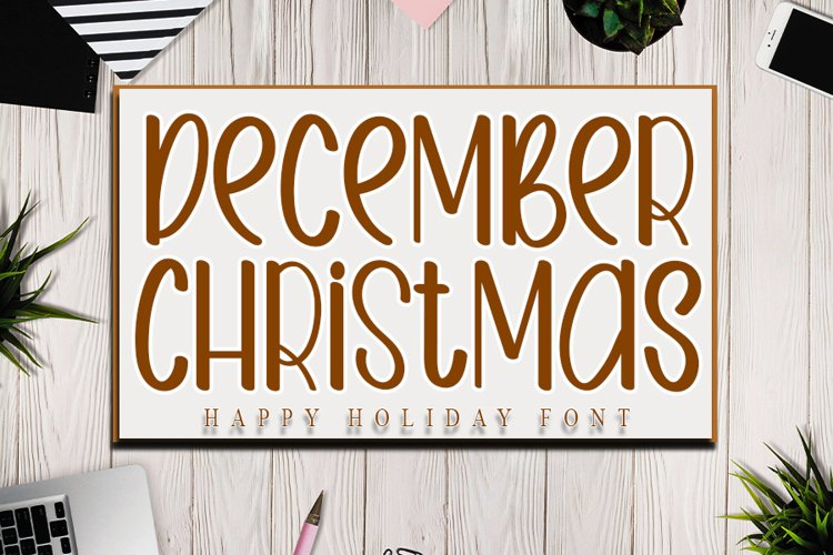 December Christmas - Happy Holiday Font example image 1
