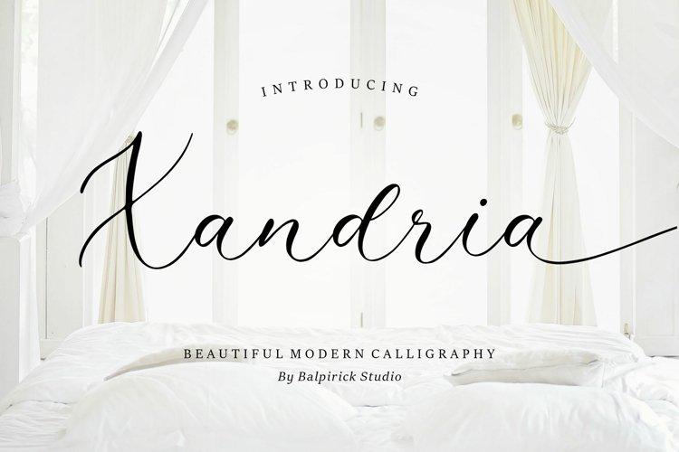 Xandria Beautiful Modern Calligraphy Font