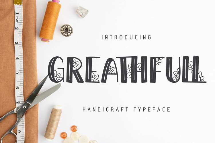 Greathfull   Handicraft Typeface example image 1