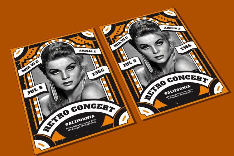 Retro Concert Flyer example image 1