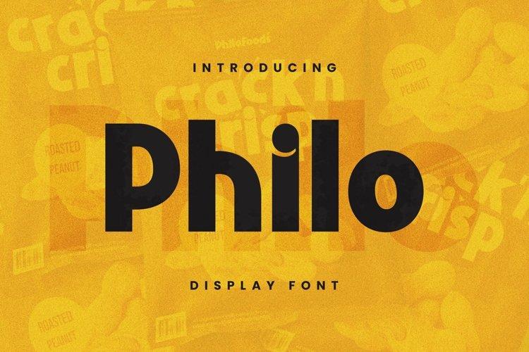 Web Font Philo Font example image 1