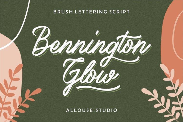 Web Font - Bennington Glow - Brush Lettering Script example image 1
