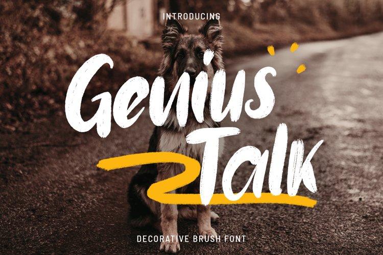 Genius Talk Brush Font example image 1