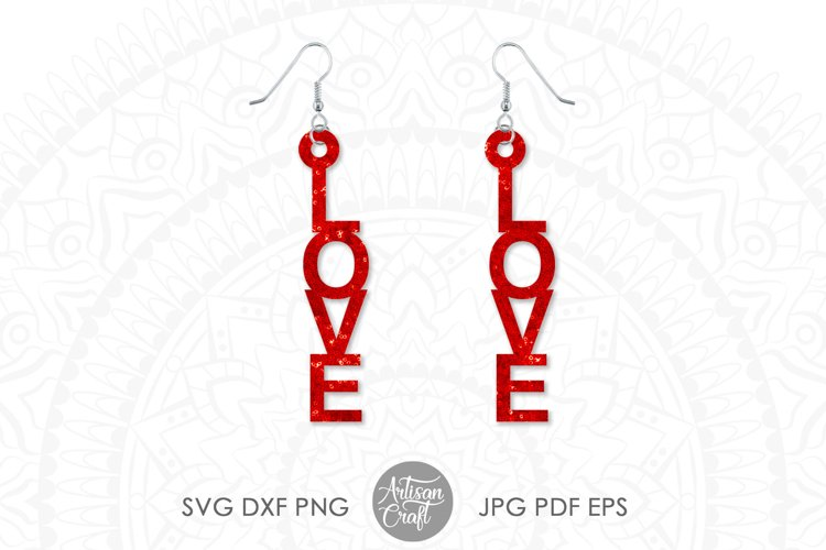 Love Earrings, Laser Cut File example 3
