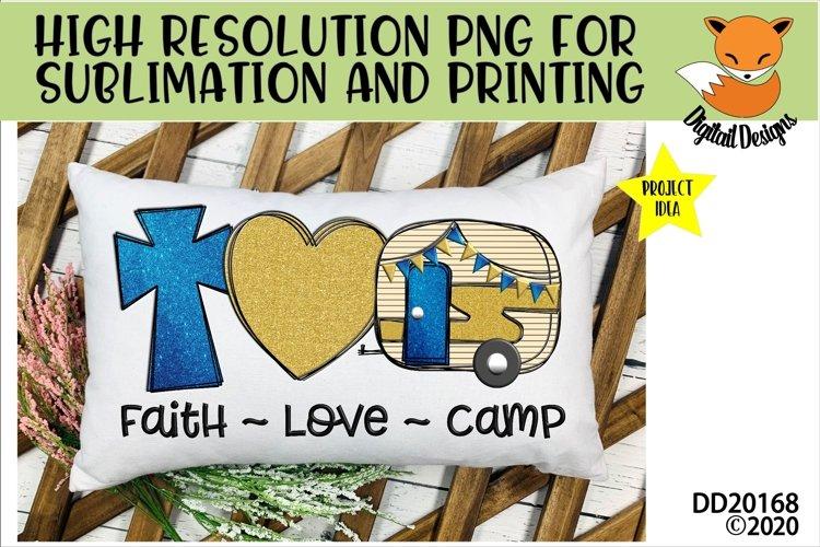 Faith Love Camp Camper Sublimation