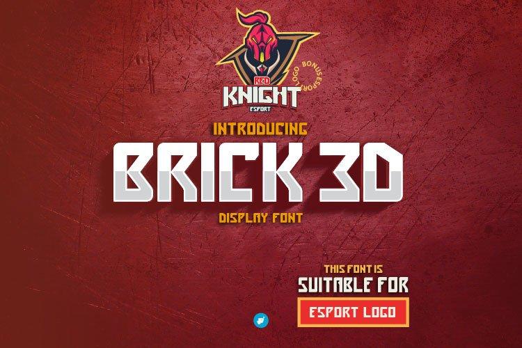 BRICK 3D | esport font