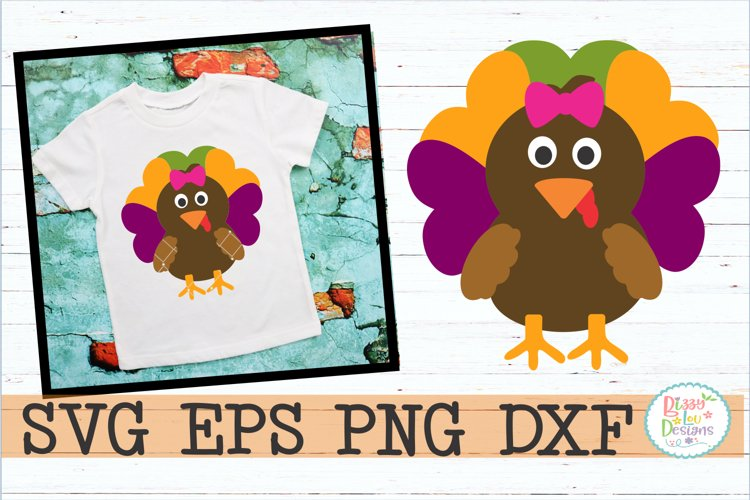 Girl Turkey SVG DXF EPS PNG JPEG - cutting file example image 1