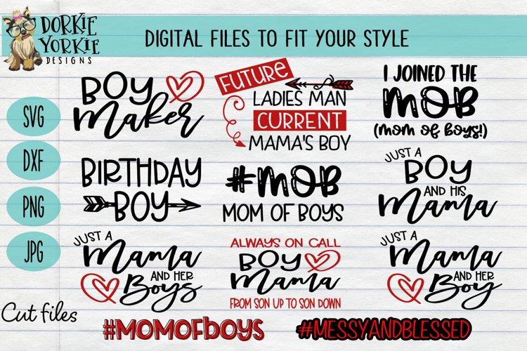 BUNDLE - Boy Mama - 11 files - heart, mom, mob, SVG cut file example image 1