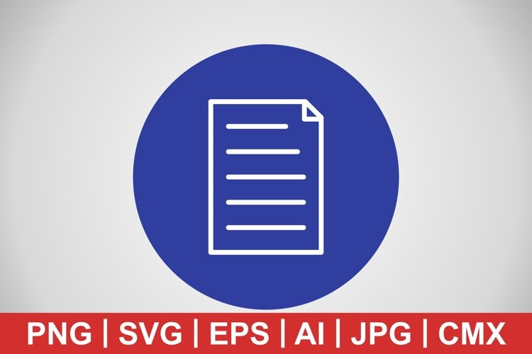 Vector Document Icon example image 1
