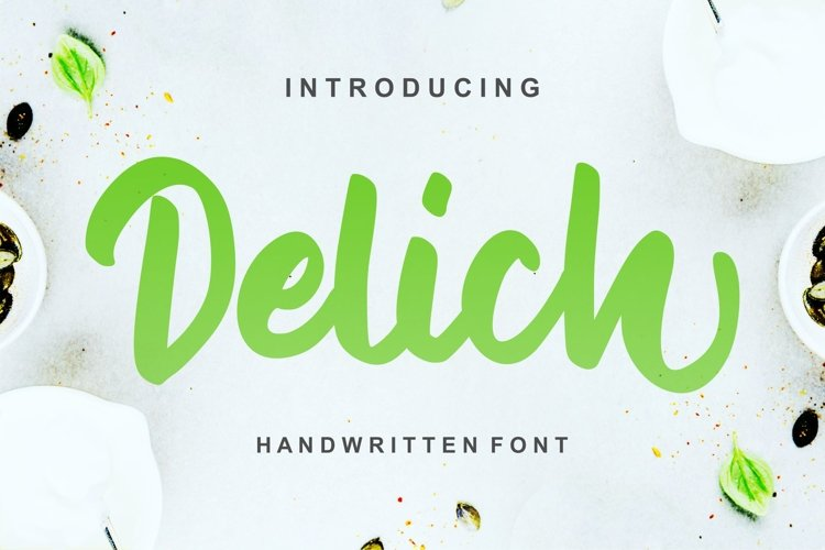 Delich | Handwritten Script Font example image 1