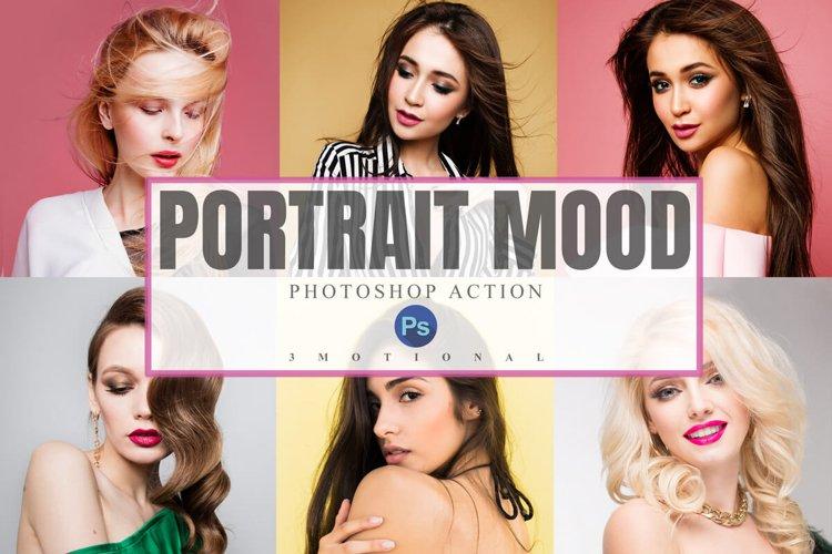 22 Portrait Mood Photoshop Action, ACR, LUT Presets example image 1