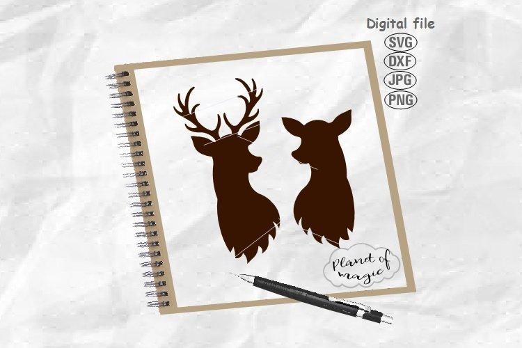 Deer Head Svg, Deer Svg, Doe Svg, Reindeer Svg,Reindeer Head
