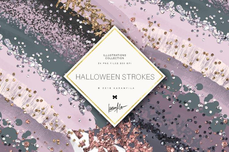Karamfilas Halloween Matched Brush Stroke Clipart