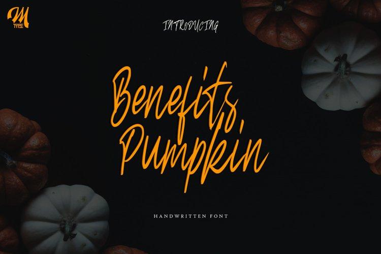 Benefits pumpkin Script